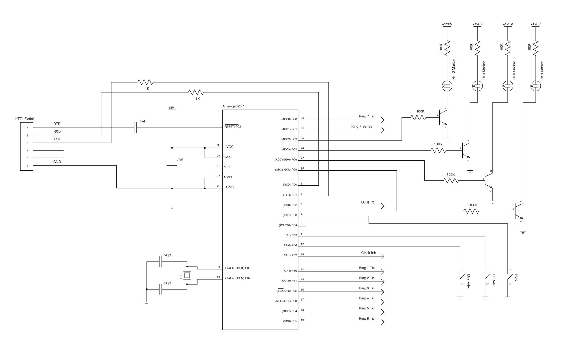 Nixie Clock Electrical Schematics Wiring Diagrams Tube Circuit Nixieneon Get Free Schematic Plans